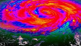 Hurricane Infrared Satellite View V1 (HD)