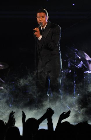 Singer Maxwell performs during the Gramm