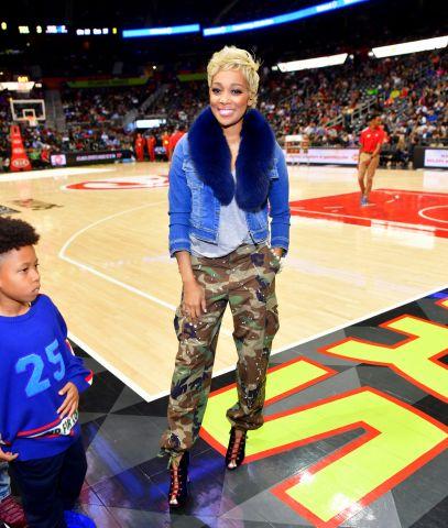 Celebrities Attend The Dallas Mavericks Vs Atlanta Hawks Game