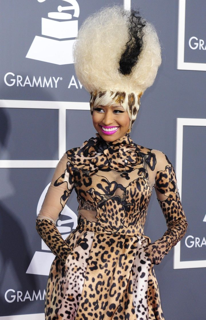 Rapper Nicki Minaj arrives for the 53rd