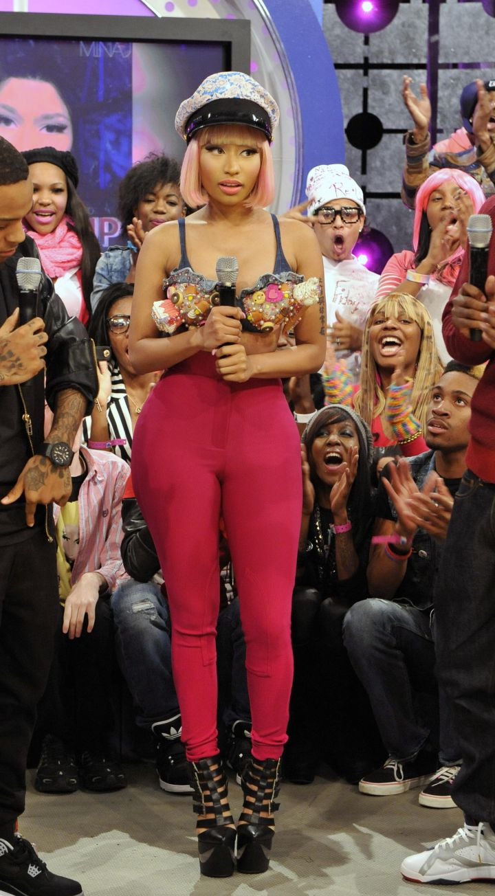 Nicki Minaj Visits BET's 106 & Park