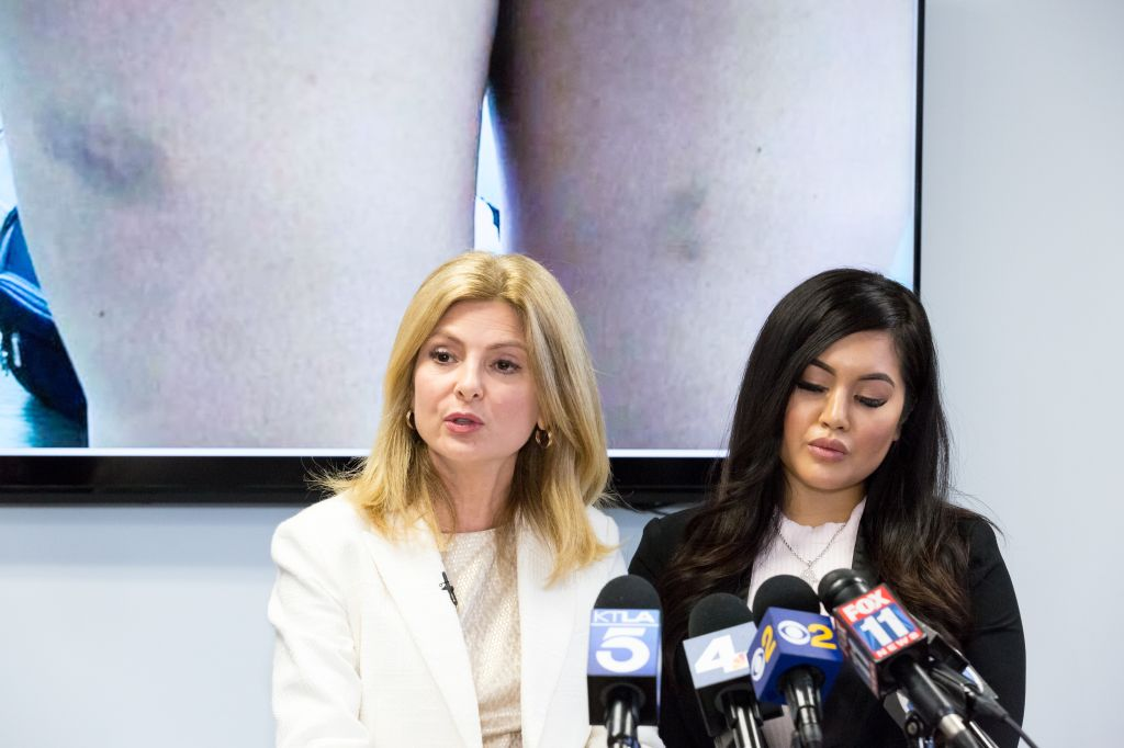 Lisa Bloom holds Press Conference With Andrea Buera Who Accused Trey Songz Of Assaulting Her