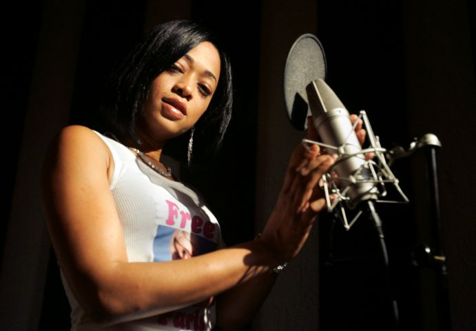 Katrina Taylor, the rap artist known as Trina, poses in the