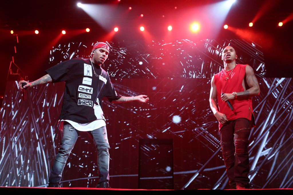 Trey Songz And Chris Brown In Concert - New York, NY