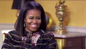 First lady Michelle Obama In an interview with Oprah Winfrey as seen on CBS.