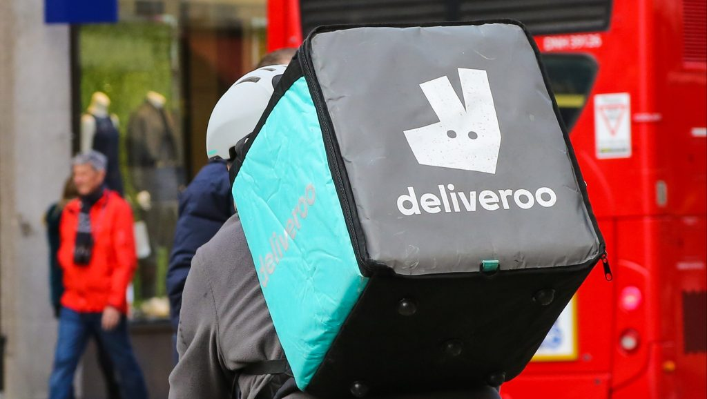 Deliveroo bicycle courier
