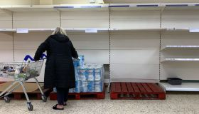 Empty Shelves in a Tesco Store in Kent Due To Coronavirus - COVID-19