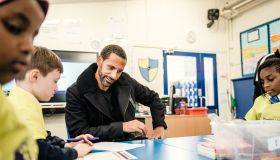Rio Ferdinand returns to former school in Peckham to surprise budding poets