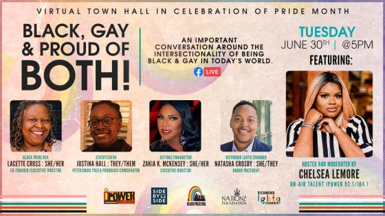 Virtual Town Hall in Celebration of Pride Month
