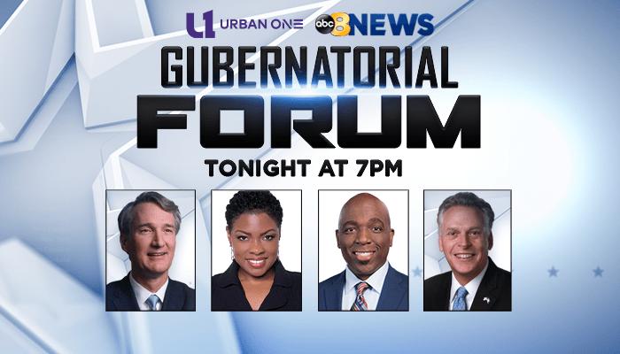 Tonight Gubernational Forum R1 Richmond 2021